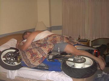 ベッドで乗りたい!